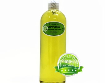 16 OZ Pure Grapeseed Oil Organic Cold Pressed