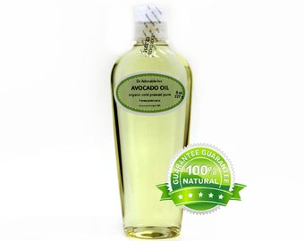 8 OZ   Avocado Oil Cold Pressed Organic 100% Pure