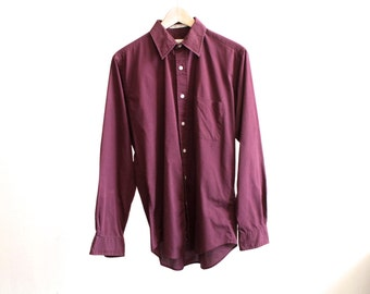 vintage PIERRE CARDIN normcore men's SMALL button down oxford shirt