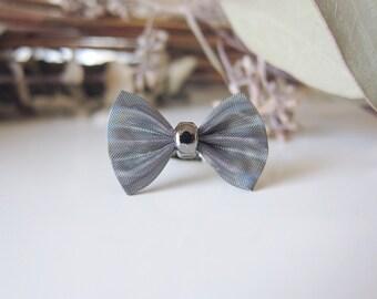 Little Grey Bow Affair Ring