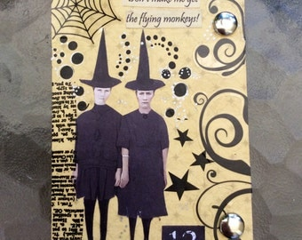 Witches And Flying Monkeys  AcEo  2.5 x 3.5