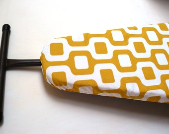 Ironing Board Cover - retro mustard yellow and white very groovy baby!