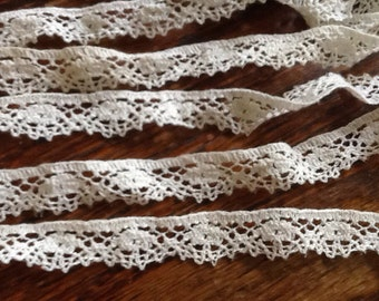 Vintage White Lace Trim Edging Ribbon Cotton