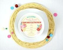 The Cameshia Round Menu Cards