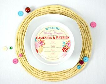 Cameshia Round Menu Cards