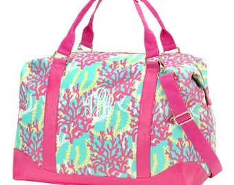 Two Piece - Reef Weekender Bag and Cosmetic Bag - FREE Personalization