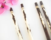 Personalized Chopsticks For Couples, Black and White Birds, His and Hers, Mr and Mrs, Gift for Newlyweds, Engraved, Fifth Anniversary Gift