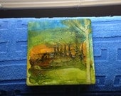 Handpainted Landscape Art Tile
