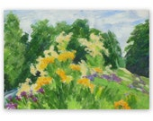 Meadow flowers 1, summer flowers painting, original, 5x7 inches