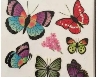 glitter butterflies big