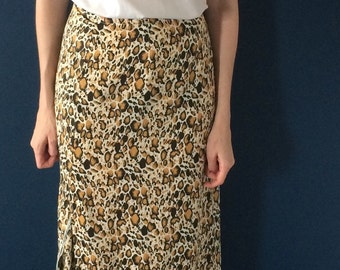 90s grunge animal print wrap skirt (s/m)