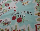 One Awesome Vintage New York City Tablecloth