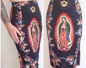 SALE Virgin Mary of Guadalupe Pencil Skirt