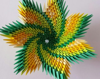 3D origami spiral bowl (multicolor)