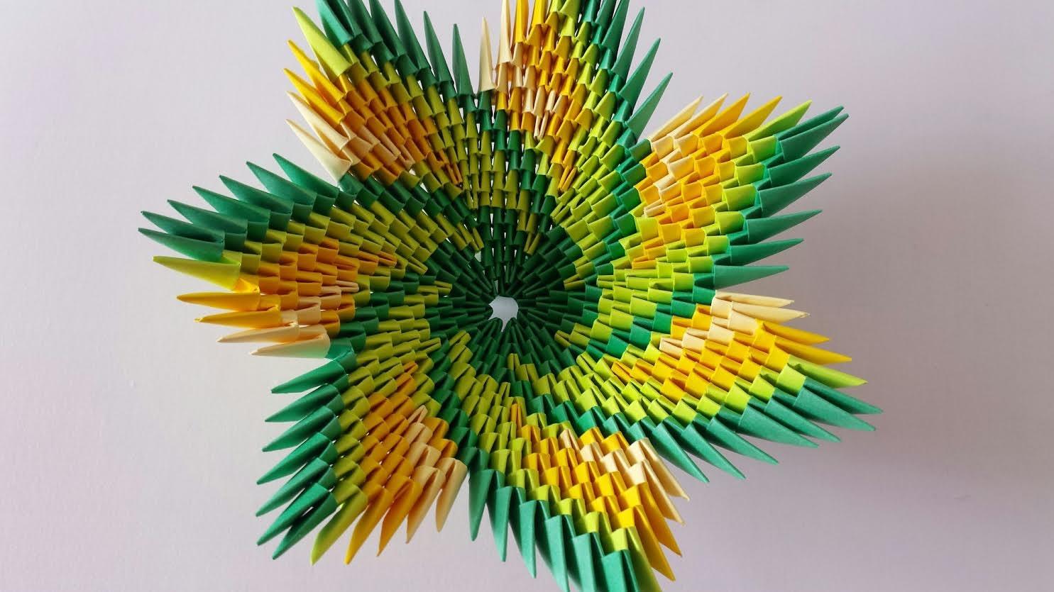 3D origami spiral bowl multicolor - photo#26