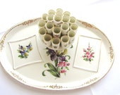 Dresden China Cigarette Holder Saxony Germany Mid Century Dresser Tray Vanity Tray from AllieEtCie
