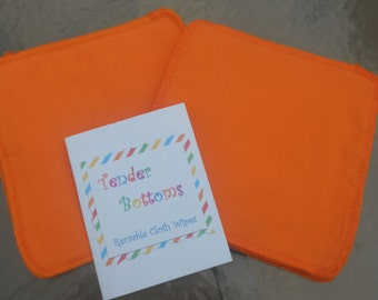 """30 Ct 2 Ply Tender Bottoms Baby Wipes 8"""" Square"""