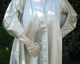 1950s Silk Duchess Satin Swing Style Evening/ Theatre Coat Item #509 Coats