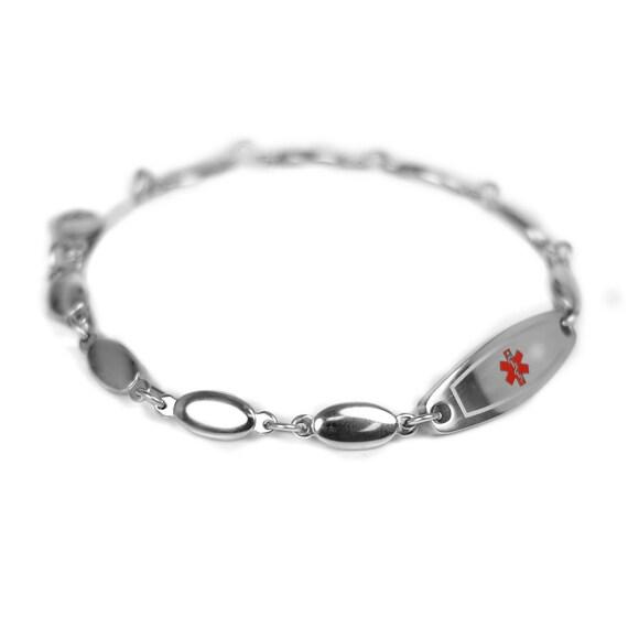 Medical Alert Bracelet Custom Engraved Stainless Steel