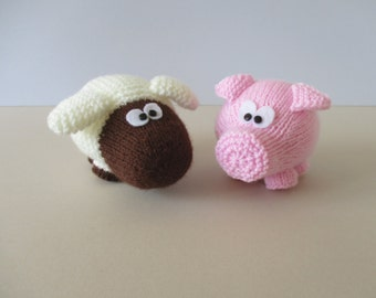 Snuffles Sheep and Truffles Pig toy knitting patterns