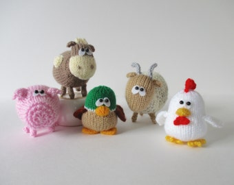 Farmyard Friends toy knitting patterns