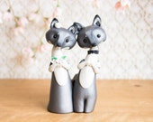 Gray Wolf Wedding Cake Topper by Bonjour Poupette