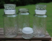 Set of Three Vintage 1983 Planters Peanut Jars, Excellent Condition, Wedding Candy Jars.
