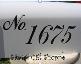 1 Vinyl House NUMBER decal - MAILBOX - (1 Side) - Outside Durabilty - Address Number for Mailbox