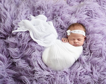 Bright White Cheesecloth Baby Wrap Cheese Cloth Newborn Photography