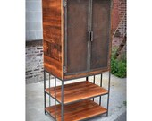 Reclaimed Wood and Raw Iron Armoire