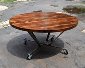 Reclaimed Wood Rounder's Table