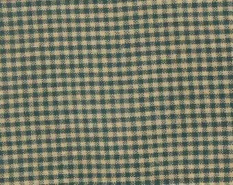 Primitive Green Tiny Check Homespun Fabric