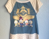 Girls Dress or Tunic - Duck Tales Gold Stripe (5/6-13/14)