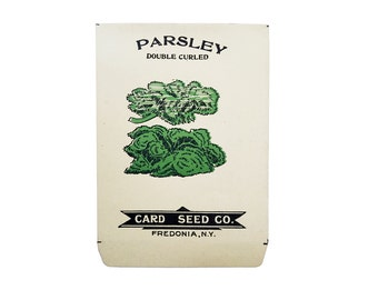 antique 1900s litho card seed co. double curcled parsley packet