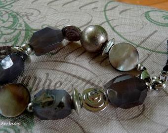 Bracelet de calcédoine bleue