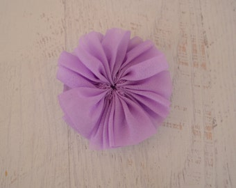 CLEARANCE 4 Lavender Chiffon Flowers