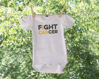 Childhood Cancer Awareness-I Can Fight Cancer-Personalized Infant Bodysuit-AH
