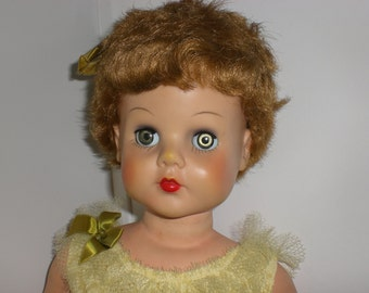 "Vintage doll, Midcentury, Allied doll, A-E 251, All original,1960s,28"", Super Market doll"
