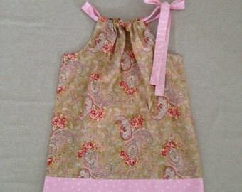 Pillowcase Dress - Paisley and Polka 4T