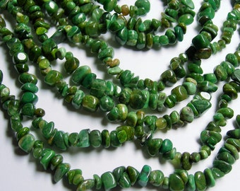 Verdite gemstone - bead - full 36 inch strand - chip stone - PSC147