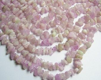 Kunzite Gemstone - 6mm chip stone - bead - full strand  -  Genuine KUNZITE - PSC159
