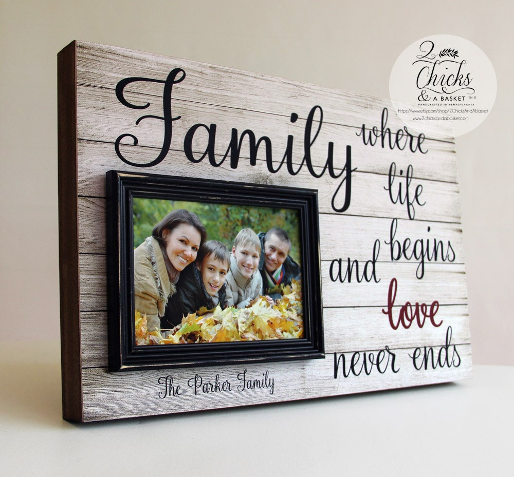 Family where life begins and love never ends frame family for Family picture design