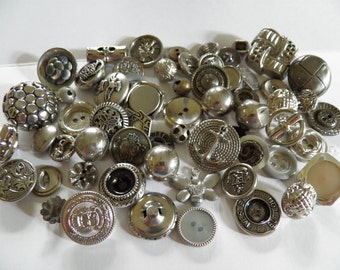 Lot of  Silver Metal Buttons