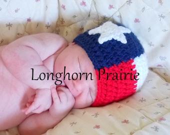 Texas Flag Beanie Hat (baby - toddler sizes)