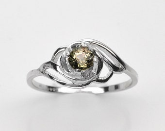 dmade Natural Gemstone Jewelry, Genuine Green Tourmaline Sterling Silver Ring  FD5C0299 RIS6-TOU194