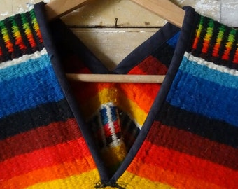 Vintage Wool Retro Hippie 1950s-60s Poncho