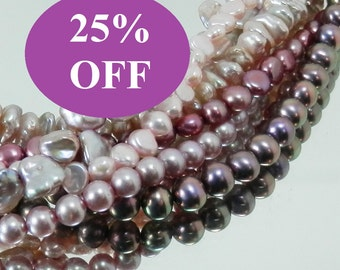 NOW 25% OFF - Change it Up - Pink and Lavender Freshwater Six Strand Pearl Necklace