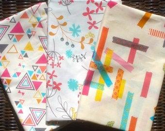 3 FQ set Washi cream/white Rashida Coleman Hale Timeless Treasures fabric oop htf