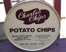 Vintage Charles Chips Potato Chips Tin