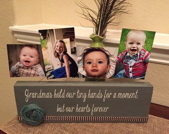 Personalized picture frame board grandma nanny aunt new baby shower great grandma gift wood custom choose your quote & colors for gigi mimi